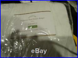 2 Pottery Barn BELGIAN FLAX LINEN curtains drapes 50 96 white cotton lining New