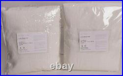 2 Pottery Barn Belgian Flax Linen Rod Pocket Curtain, cotton lined, ivory, 50x84