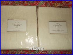 2 Pottery Barn Belgian Flax Linen Sheer Drapes, 108, Ivory, New
