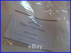 2 Pottery Barn Belgian Linen ivory drapes 50 X 96 New