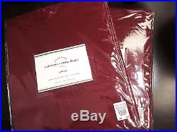 2 Pottery Barn Cameron Cotton Drapes Curtains 50x84 Ruby Red Pole Top NEW 3 Avai