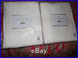 2 Pottery Barn Cameron Cotton Grommet Drapes, 96, New, Marshmellow White