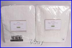 2 Pottery Barn Classic Belgian Flax Linen drape curtains 50x108, classic ivory