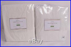2 Pottery Barn Classic Belgian Flax Linen drape curtains 50x96, Classic Ivory