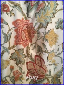 2 Pottery Barn Cynthia Palampore Cotton Lined Drape curtain Panels 96 X 50