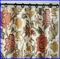 2 Pottery Barn Cynthia Palampore Curtain Drapery Panels 50x84
