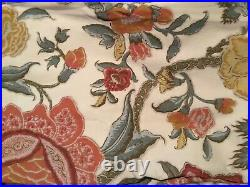 2 Pottery Barn Cynthia Palampore Curtain Panels Jacobean Lined 50x84 Linen Blend