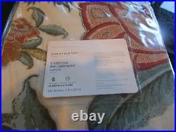 2 Pottery Barn Cynthia Palampore Linen Cotton Rod Pocket Curtains drapes 50 84