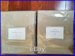 2 Pottery Barn Dupioni Silk Curtains Pole Top Parchment 50x84 NEW