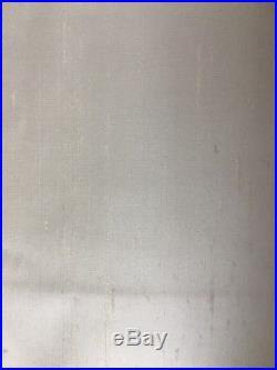 2 Pottery Barn Dupioni Silk Drapes 50 W X 96L Ivory, very gently used, PAIR