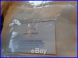 2 Pottery Barn Emery Blackout Pole Pocket Drapes 50 X 84 ivory NEW