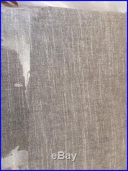 2 Pottery Barn Emery Drape Pole Pocket Curtain Panels 50x84 Grey Gray NWT