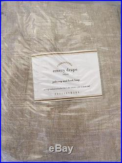 2 Pottery Barn Emery Drape Pole Pocket Curtain Panels 50x84 NWT Oatmeal