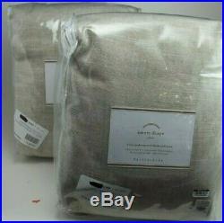 2 Pottery Barn Emery Drape Pole Top Blackout Doulewide Oatmeal 100 x 108 #1801