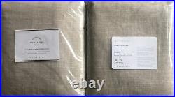 (2) Pottery Barn Emery Linen Blackout Curtain Drape Panels Oatmeal 50x96 S/2