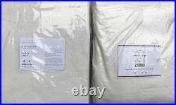 (2) Pottery Barn Emery Linen Cotton Rod Pocket Drapes Curtains 50x96 Ivory NEW