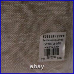 2 Pottery Barn Emery Linen Rod pocket blackout drape curtain panel 50x96 oatmeal