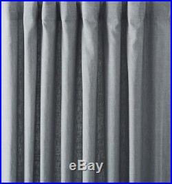 2 Pottery Barn Emery Pole Top Drapes 50 X 96 BLUE DAWN
