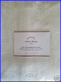2 Pottery Barn Emery Pole Top With Blackout Lining Drapes 50 X 108 IVORY