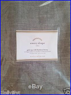 2 Pottery Barn Emery Pole Top With Blackout Lining Drapes 50 X 84 GRAY