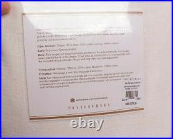 2 Pottery Barn Emery linen cotton rod pocket curtain panels 100x96, ivory 238869