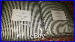 2 Pottery Barn Emily & Meritt Ticking Stripe Drapes, Blackout Lining, 108