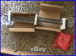 2 Pottery Barn Essential Cast Iron 28-48 Curtain Drape Rod BLACK NOS
