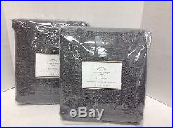 2 Pottery Barn Everyday 3 n 1 Drapes Window Curtains Panels 50x96 Flagstone Gray