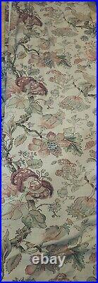 2 Pottery Barn Grace Print Floral Linen/Cotton Curtains Drapes, 50 x 84