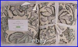 2 Pottery Barn Haylie linen cotton drape curtain panels 50x84 gray, cotton lined