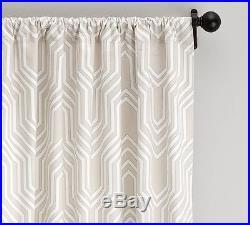 2 Pottery Barn Isla Geometric Print Drapes 50 W X 96l Light Taupe, Beautiful