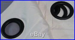 2 Pottery Barn Ivory Dupioni Silk 84 Grommet Curtains Window Panels Drapes