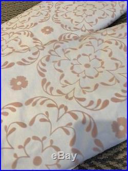 2 Pottery Barn Kids 44x84 Sweet Flower Blackout Panels Drapes Curtain Pink White