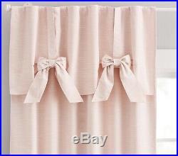2 Pottery Barn Kids Evelyn Blackout 108 Drape Window Panels Curtains Blush Pink