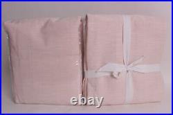 2 Pottery Barn Kids Evelyn Linen blackout drape curtain panels 44x84 light pink
