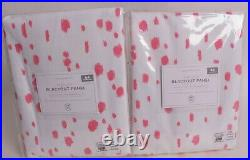 2 Pottery Barn Kids Marley blackout drape curtain panels 44x96 pink