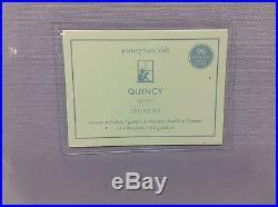 2 Pottery Barn Kids Quincy classic cotton drapes curtains panels 44x96 Lavender