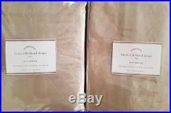 2 Pottery Barn Linen Silk Blend 3-in-1 Pole Top Drapes 50 X 96 TAUPE