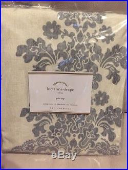 2 Pottery Barn Lucianna Medallion Drape Panels Curtains 50