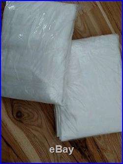 2 Pottery Barn Peyton Pole Pocket 50 X 108 Drapes White Linen Cotton Brand New