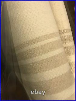 (2) Pottery Barn Riviera Stripe Blackout Drape Curtains Sandalwood 50x84