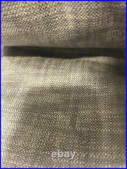 (2) Pottery Barn Seaton Textured Drape Curtain Panel 50 x 96 Chambray Blue