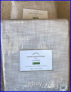 (2) Pottery Barn Seaton Textured Pole Drapes Curtains 50x84 Neutral New