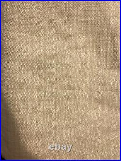 (2) Pottery Barn Seaton Textured Pole Drapes Curtains 50x84 Nuetral- New