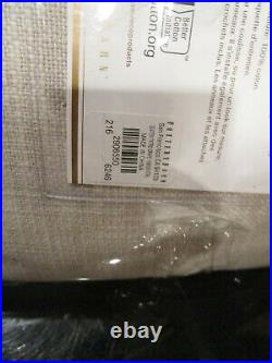 2 Pottery Barn Seaton textured curtains drapes 50 108 Neutral cotton lining New