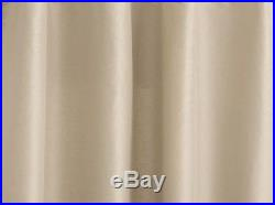 2 Pottery Barn Silk Dupioni Pole Pocket BLACKOUT Drapes 104 X 108 SAHARA
