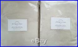 2 Pottery Barn Silk Dupioni Pole Pocket BLACKOUT Drapes 50 X 84 SAHARA