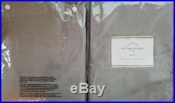 2 Pottery Barn Silk Dupioni Pole Pocket Drapes 50 X 108 PLATINUM GRAY