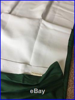 2 Pottery Barn Silk Dupioni Pole Pocket Drapes, 50 X 84, emerald green (EUC)