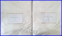 2 Pottery Barn Silk Dupioni Pole Pocket Drapes 50 X 96 IVORY